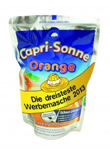 capri-sonne mit Banderole © Foodwatch.org