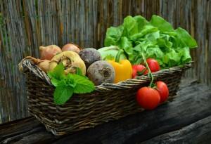 Gesunde Ernährung durch Gemüse und Obst