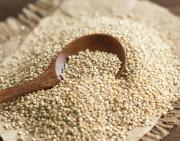 Geschälter Quinoa in rohem Zustand