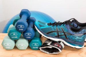 Ausstattung für die Fitness